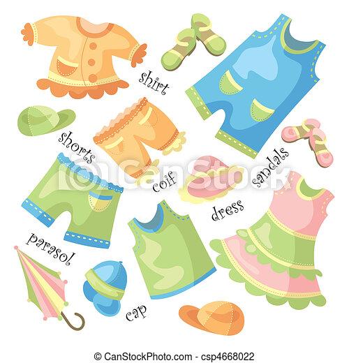 set of baby clothing - csp4668022