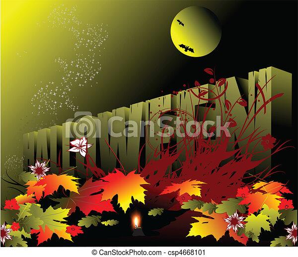 Halloween - Holiday celebrated on  - csp4668101