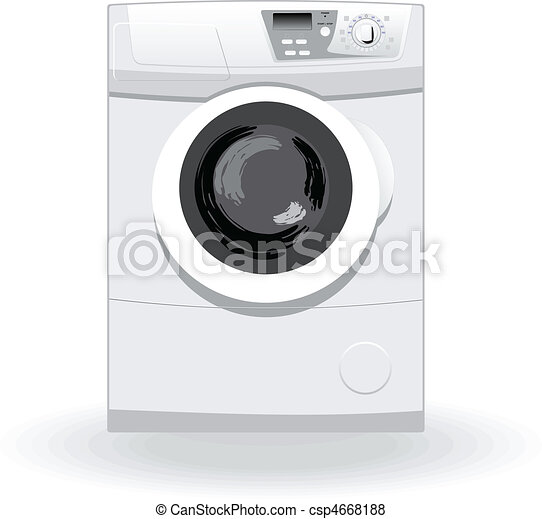 Washing machine vector illustratio - csp4668188