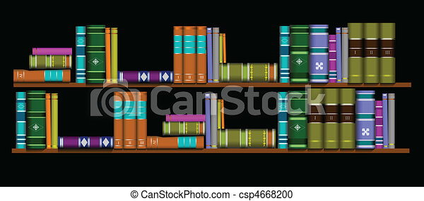 Vector illustration bookshelf library - csp4668200