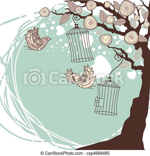 floral summer composition - csp4668485