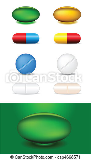 set of different medicines - csp4668571