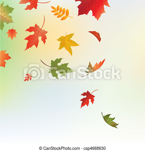 Autumn Background With Leaves - csp4668630