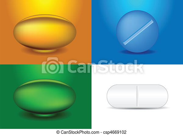 set of different medicines - csp4669102