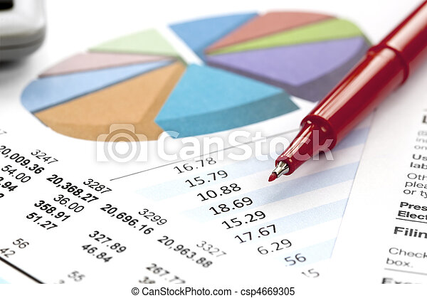 Financial figures - csp4669305