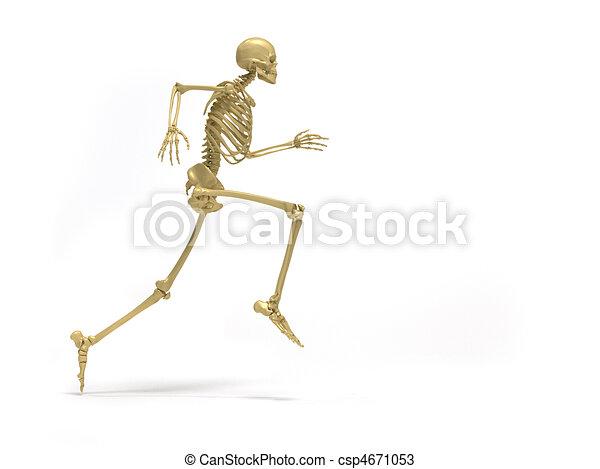 Human Running Drawing Human Skeleton Running 3d