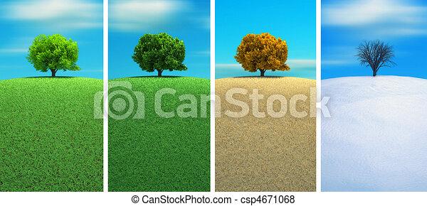 Four seasons - csp4671068