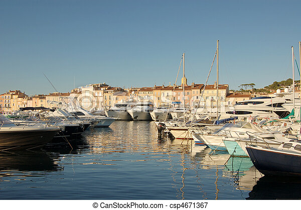Boats in St Tropez harbour - csp4671367