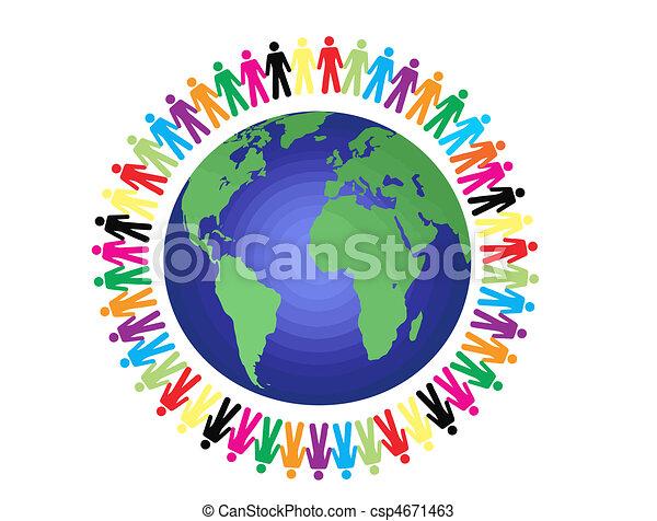peace around the world - csp4671463