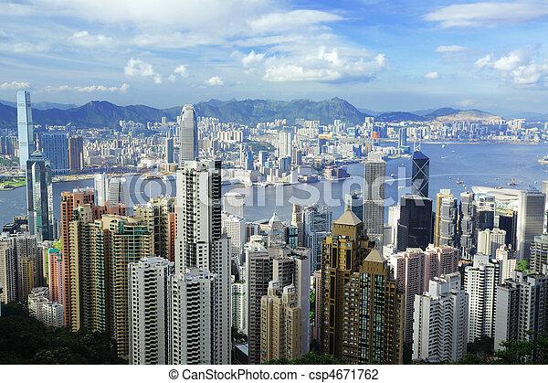 Hong Kong view from the peak - csp4671762