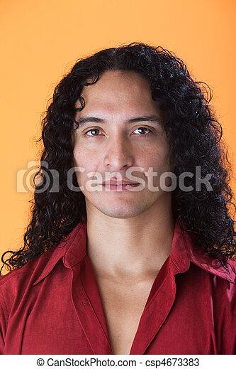 bonito, forte, características, homem - csp4673383