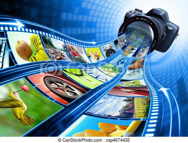 Film Strip Pictures - csp4674435