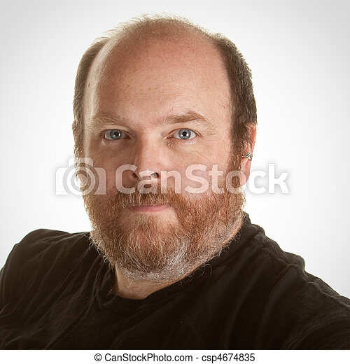 Obese Middle Aged Man - csp4674835