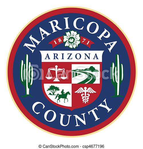 Seal of Maricopa County, state Arizona (Phoenix) - csp4677196