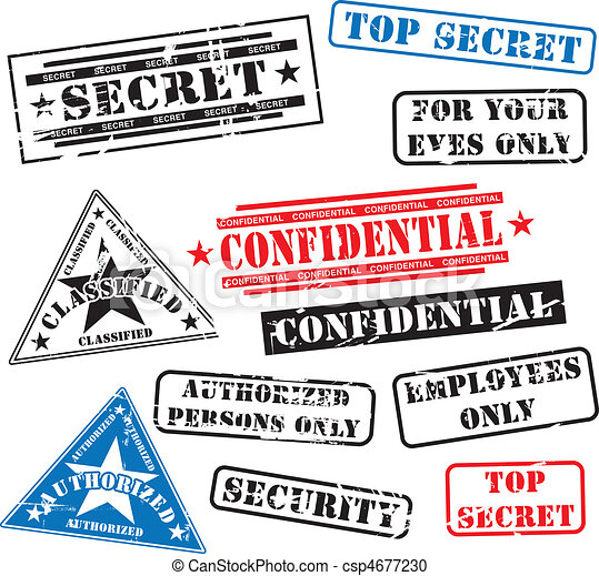 Security rubber stamps - csp4677230