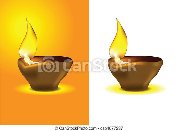 Diwali Diya - Oil lamp for dipawali - csp4677237
