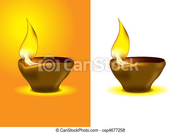 Diwali Diya - Oil lamp for dipawali celebration - csp4677258