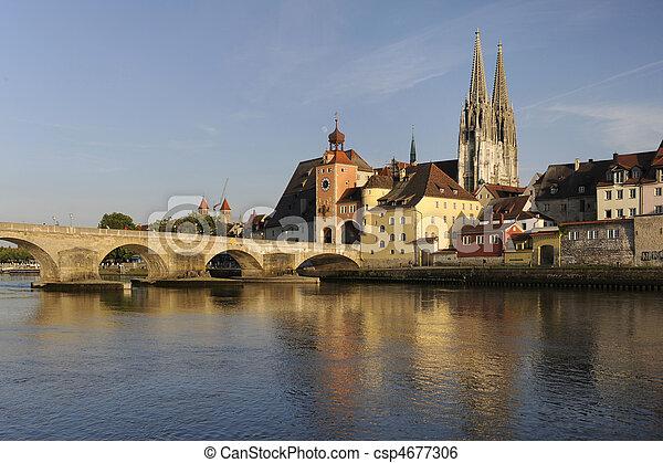 german town regensburg - csp4677306