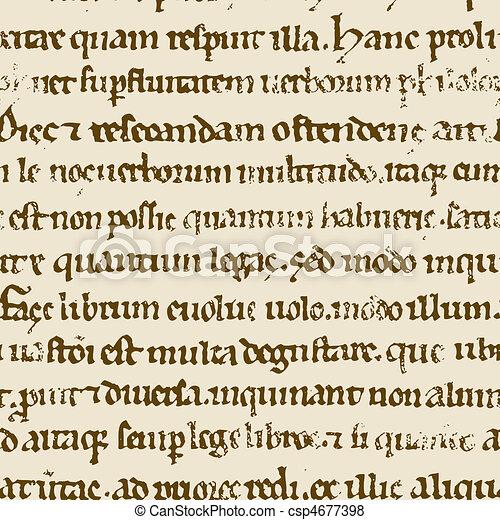 Seamless ancient Bible manuscript. - csp4677398