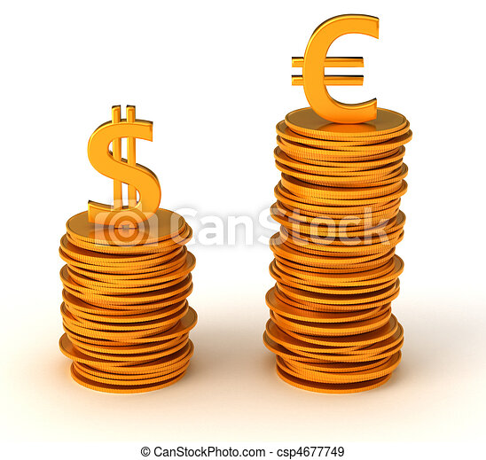 Currency inequality - US dollar and Euro - csp4677749