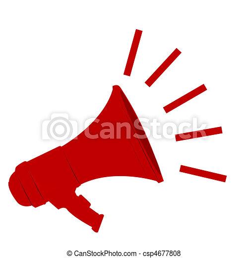 loud megaphone - csp4677808