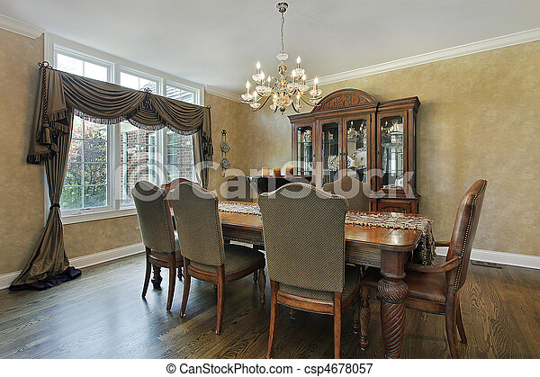 Dining room in luxury home - csp4678057