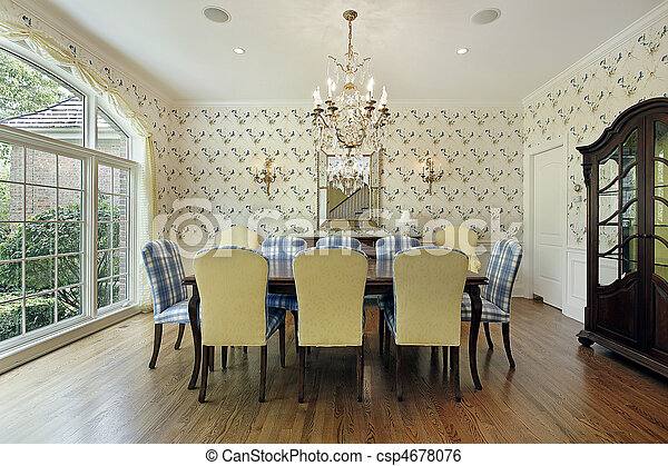 Dining room in suburban home - csp4678076