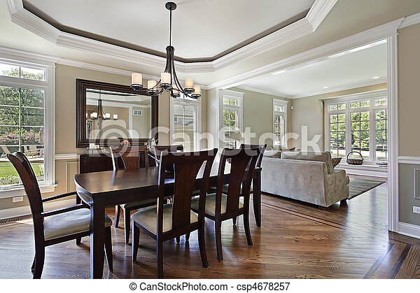 Dining room in luxury home - csp4678257