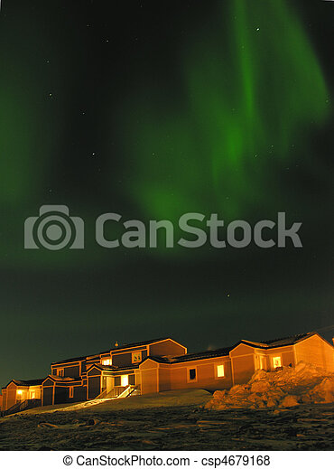 Northern lights in Northern Canada - csp4679168