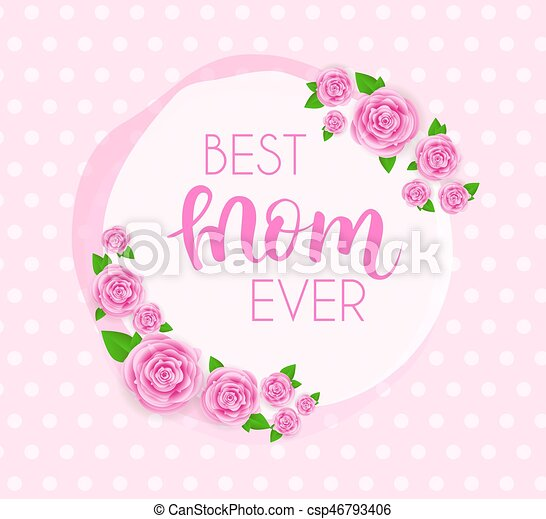 Mother's day greeting card. - csp46793406