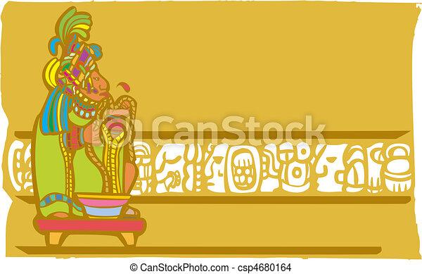Mayan Bloodletting Sacrifice - csp4680164