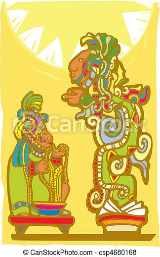 Mayan Sacrifice and Vision Serpent - csp4680168