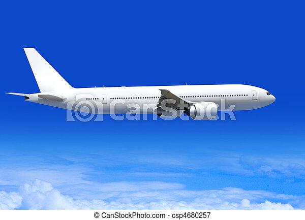 passenger plane in aerosphere - csp4680257