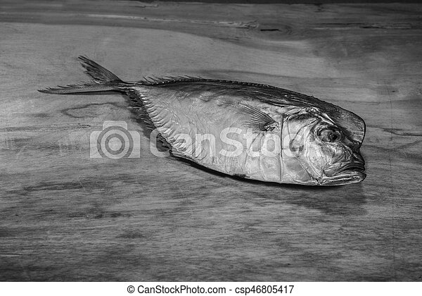 Vomer setapinnis (selene pisces). Smoked fish is a wonderful gourmet meal. Creative artwork used for printing on large format canvas.