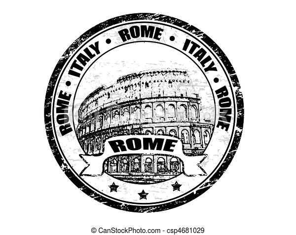 Rome stamp - csp4681029