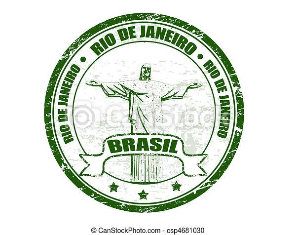 Rio de Janeiro stamp - csp4681030