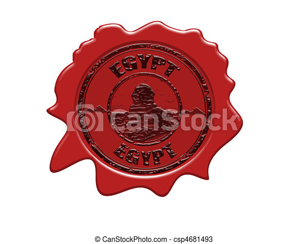 Egypt wax seal - csp4681493