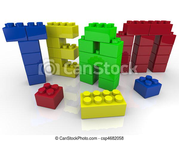 Team Building with Toy Blocks - csp4682058