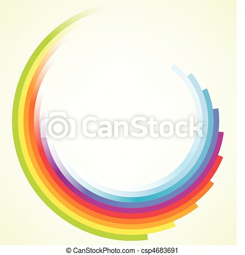 Colorful circular motion background - csp4683691