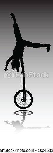 acrobatics vector silhouette - csp4683909