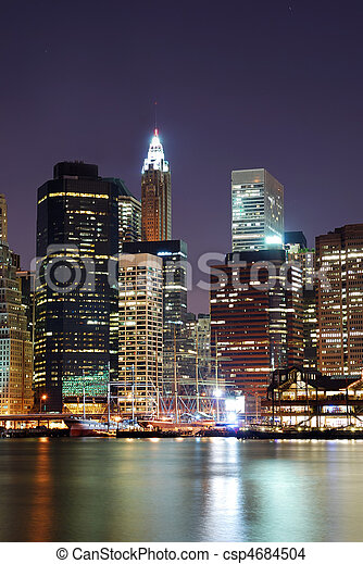 Manhattan skyscrapers in New York City - csp4684504