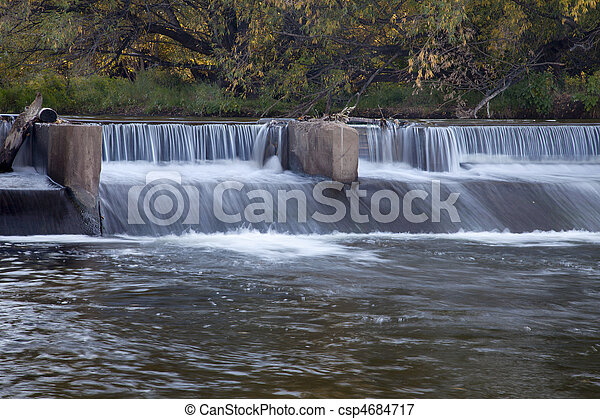 river diversion dam - csp4684717