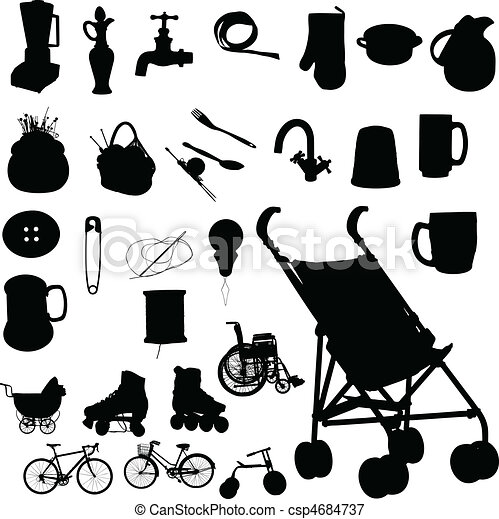 baby buggy and stuff vector - csp4684737