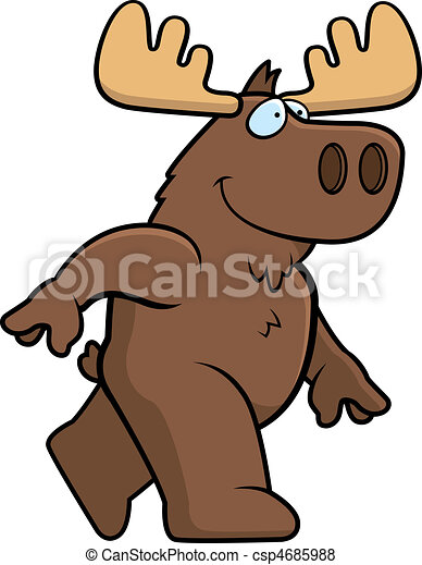 Moose Walking - csp4685988