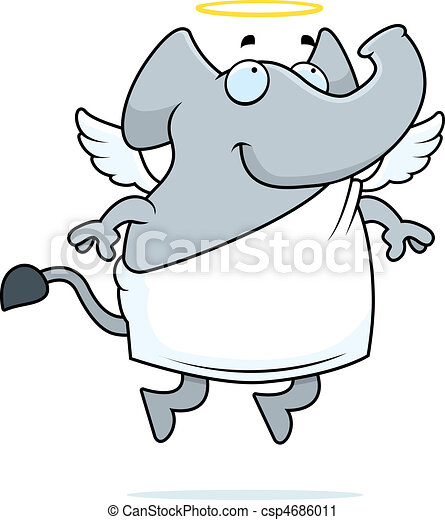 Elephant Angel - csp4686011