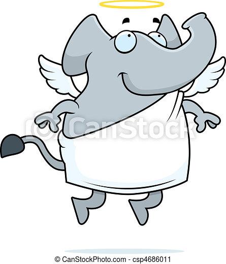 Elephant Angel - csp4686011