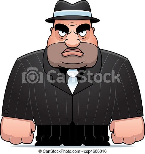 Cartoon Mobster - csp4686016