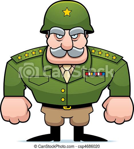 militär,  general - csp4686020