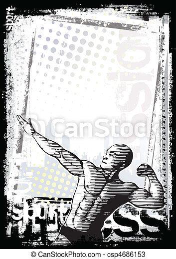 bodybuilder poster - csp4686153