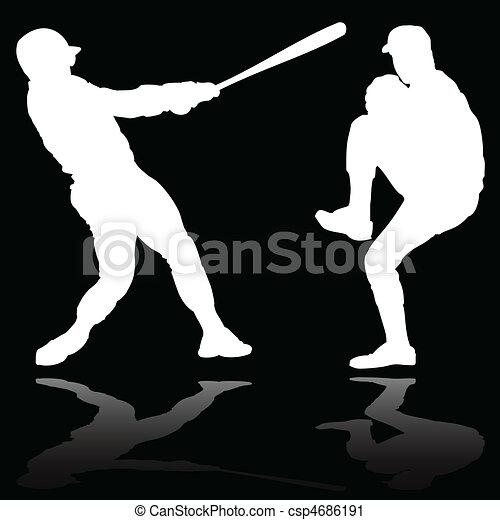Baseball Player Art Baseball Player White Vector